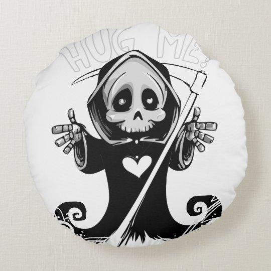 Cute reaper-baby reaper-cartoon reaper-baby grim round cushion