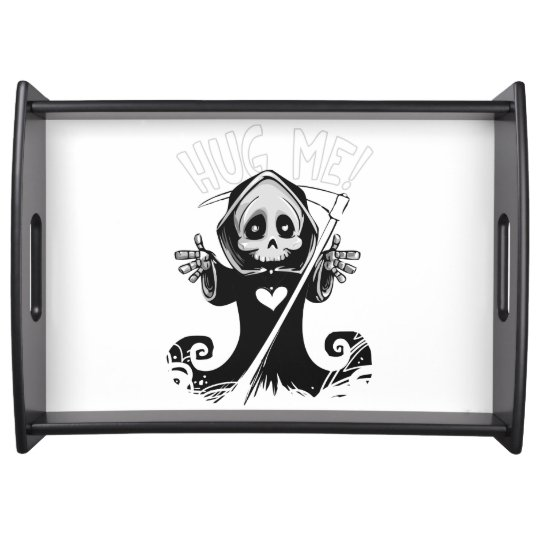 Cute reaper-baby reaper-cartoon reaper-baby grim serving tray