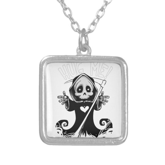 Cute reaper-baby reaper-cartoon reaper-baby grim silver plated necklace