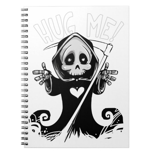 Cute reaper-baby reaper-cartoon reaper-baby grim spiral notebook