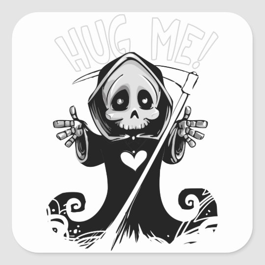 Cute reaper-baby reaper-cartoon reaper-baby grim square sticker