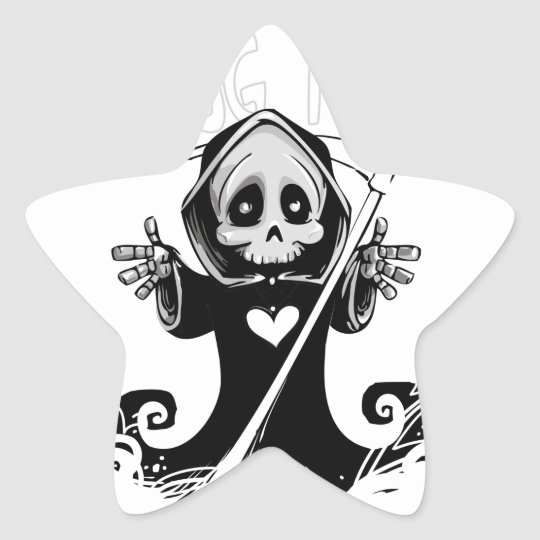 Cute reaper-baby reaper-cartoon reaper-baby grim star sticker