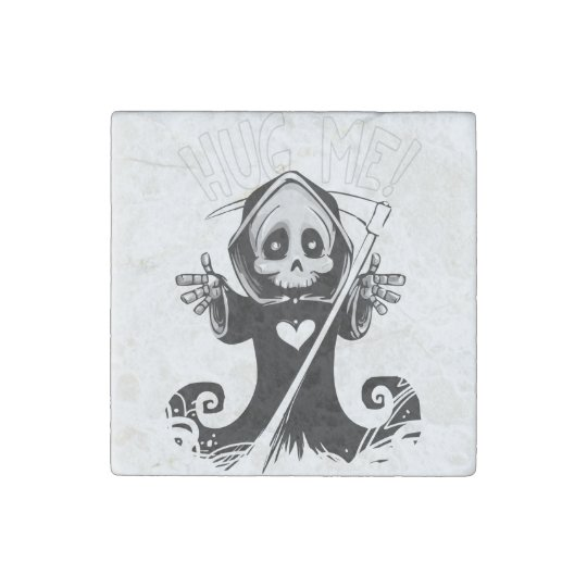 Cute reaper-baby reaper-cartoon reaper-baby grim stone magnet