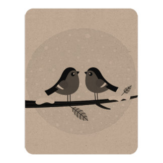 Cute recycle paper greeting with 2 Love doves Card