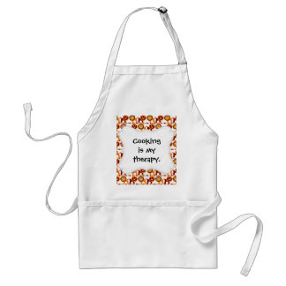 Cute Red and Orange Lions Jungle Pattern White Standard Apron