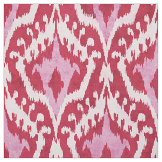 Cute red and pink ikat tribal pattern fabric