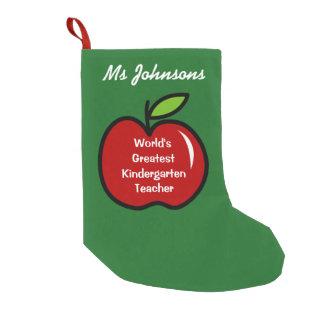 Cute red apple kindergarten school teacher custom