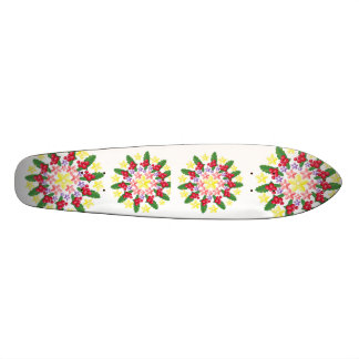 Cute Red Berry Garland Pattern Skate Board Deck
