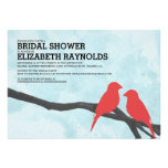 Cute Red Bird Bridal Shower Invitations