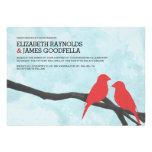 Cute Red Bird Wedding Invitations