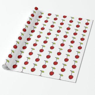 Cute Red Cherries Gift Wrap