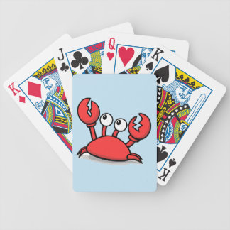 Cute Red Crab cartoon Bicycle Playing Cards