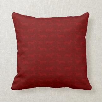 Cute red dachshund pattern throw pillow