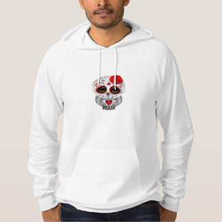 Cute Red Day of the Dead Sugar Skull Owl Hoodie