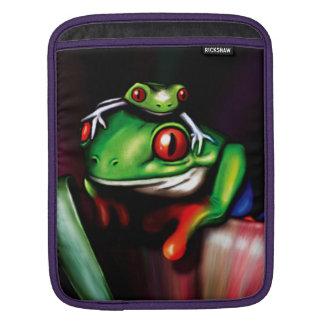 Cute Red Eyed Tree Frogs iPad Sleeves