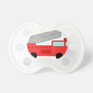 Cute Red Firetruck Baby Pacifier