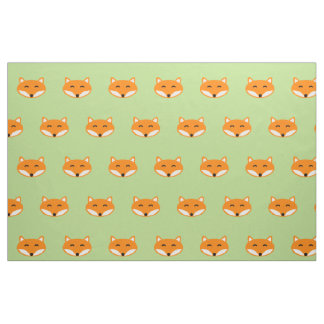Cute red fox fabric | Textile with forest animals