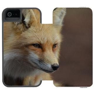 Cute Red Fox Incipio Watson™ iPhone 5 Wallet Case
