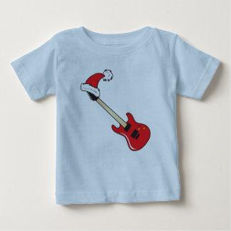 Cute Red Guitar Santa Hat Kids Shirt Baby Hoodies