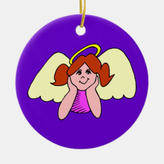 Cute Red Hair Girl Christmas Angel Christmas Tree Ornament