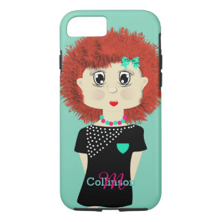 Cute Red Haired Cartoon Doll iPhone 7 Case