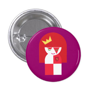 Cute Red Head Warrior Queen Dressed For Battle 3 Cm Round Badge