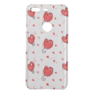 Cute red hear Google Pixel Clearly™ Deflector Case