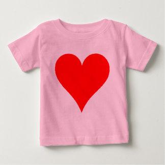 Cute Red Heart Shirt For Girls