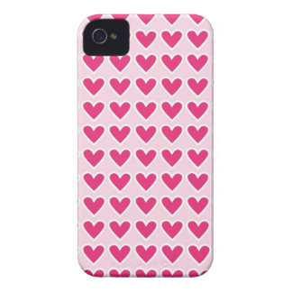 Cute Red Hearts Pattern Pink Valentine's Day Gifts iPhone 4 Case-Mate Case