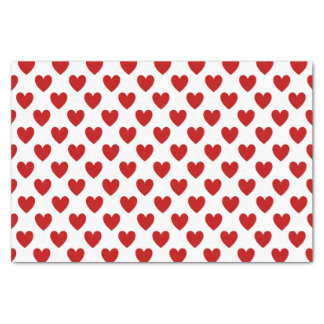Cute Red Hearts Pattern Tissue Paper