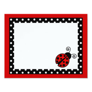 Cute Red Ladybug Flat Thank You Note Cards 11 Cm X 14 Cm Invitation Card