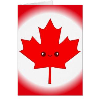 Cute Red Maple Leaf Greeting Card
