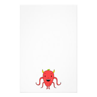 Cute red monster customized stationery