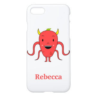 Cute red monster iPhone 7 case