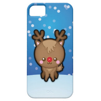 Cute Red Nosed Reindeer Christmas iPhone 5 5s Case iPhone 5 Covers
