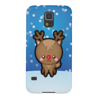 Cute Red Nosed Reindeer Christmas Samsung S5 Case Galaxy S5 Cases