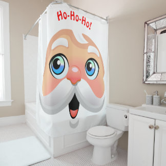 Cute Red Nosed Santa Claus Shower Curtain
