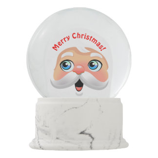 Cute Red Nosed Santa Claus Snow Globe