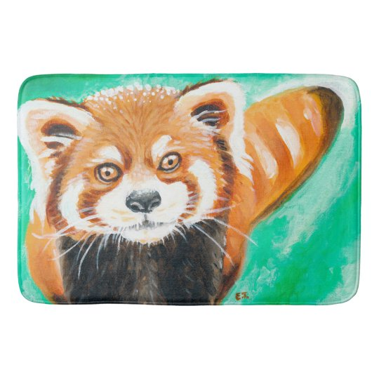 Cute Red Panda Bath Mats