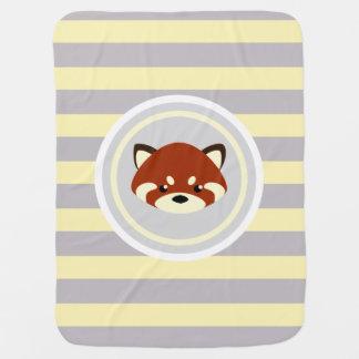 Cute Red Panda Receiving Blanket