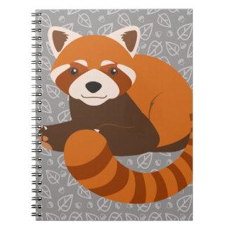 Cute Red Panda Spiral Note Books