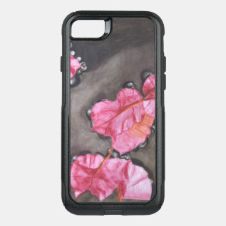 Cute Red Phone Case – Petals In Water Collection
