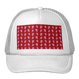 Cute red pig pattern trucker hat