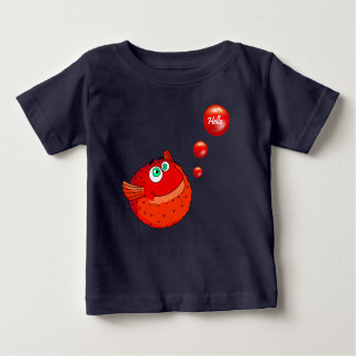 Cute red  puffer fish baby T-Shirt