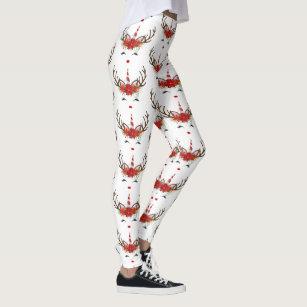 c90d20cae6a91 Women's Cute Reindeer Gifts Leggings & Tights | Zazzle AU