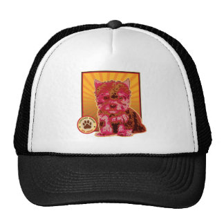Cute Red Yorkie Puppy Dog - Yorkshire Terrier Hats