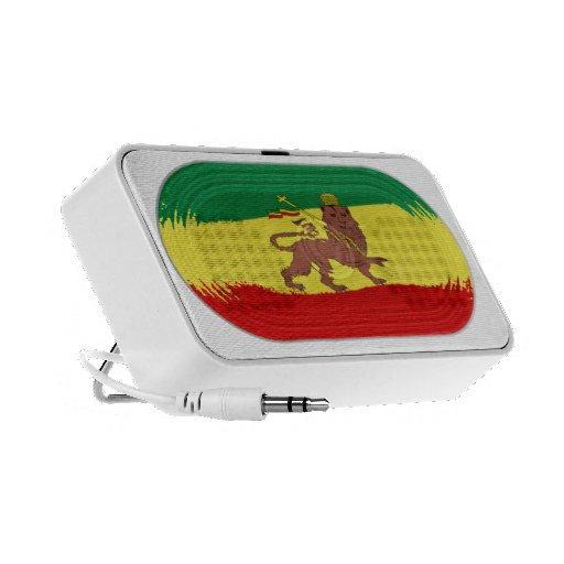 Cute Reggae Rastafari Flag Lion of Judah Speaker