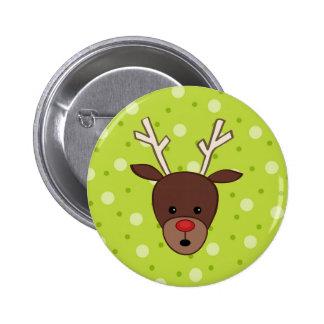 Cute Reindeer 6 Cm Round Badge
