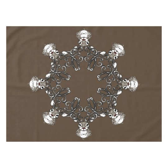 Cute Reindeer brown deer cottage tablecloth