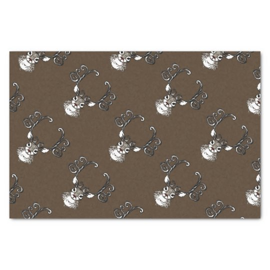 Cute Reindeer brown deer cottage  tissue paper